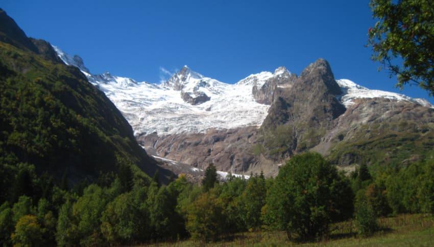 Алибекский ледник Домбай фото