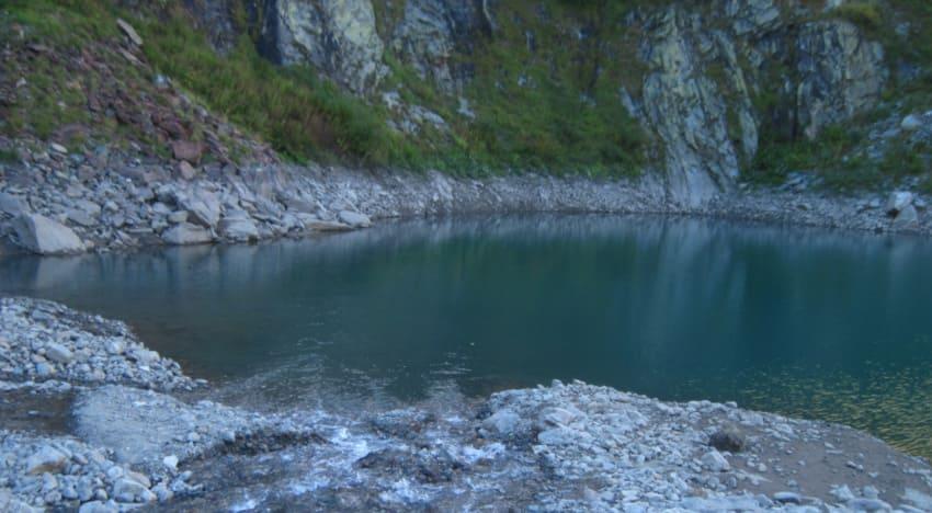 турье озеро в Домбае высота над уровнем моря