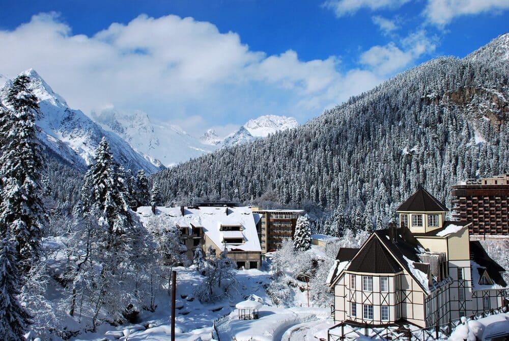 Домбай зимой фото